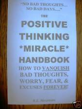 POSITIVE THINKING MIRACLE HANDBOOK self help book worry
