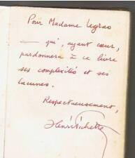 HENRI PICHETTE LES REVENDICATION 1958  ENVOI DEDICACE Surrealisme picasso