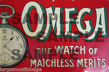 WEATHERED BUILDING SIGN HO O DECAL OMEGA WATCH