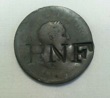 Rnf countermark host early british halfpenny counterstamp