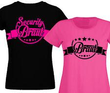 Junggesellinnenabschied T-Shirt Junggesellenabschied Security Braut Damen bräuti