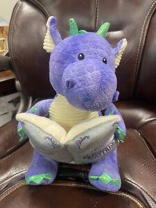 Cuddle Barn Dalton the Storytelling Dragon Animated Plush Talking Reads 5 Tales
