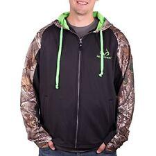 Realtree Mens Spruce Sweatshirt Hoodie Black / Xtra Camo Performance Sweater T19