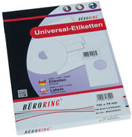 Etiketten A4 105x74mm 800 Etiketten 100 Blatt Laser Copy InkJet BRG500031 NEU