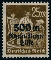 DR 1923, MiNr. 259 VII Plattenfehler, tadellos postfrisch, gepr. Infla, Mi. 65,-