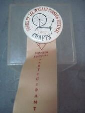 FORKS OF THE WABASH PIONEER FESTIVAL CRAFTS  PINBACK BUTTON 1997