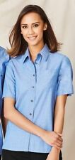 Women's Career Solid 100% Cotton Tops & Blouses