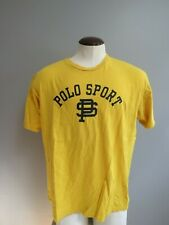 Polo Sport Yellow Spellout Short Sleeve T-Shirt Vintage Large Ralph Lauren