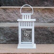 Geschenkidee Hochzeit Taufe Laterne Hochzeitskerze Valentinstag mit Gravur NEU