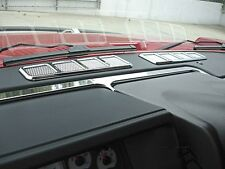Hummer H2 Smooth Chrome Billet Interior Dash Vent Bezel Set