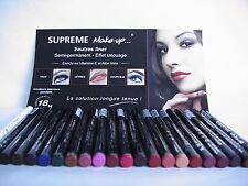 22 feutres Semi-permanent Suprême Make-Up sourcils,yeux,lèvres neufs  val 350€