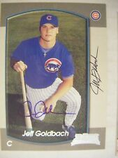 JEFF GOLDBACH signed CUBS 2000 Bowman baseball card AUTO EVANSVILLE PRINCETON IN