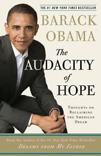 The Audacity of Hope a paperback book by President Barack Obama