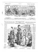 MODE ILLUSTREE SEWING PATTERN July 3 1870 - Mantelet, blouse, dress, bonnet
