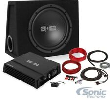 "Belva BPKG110 10"" Sub in Ported Box + Monoblock Amplifier and Amp Kit"