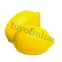 2pcs Limón Decoración realista Artificial Fruit Plastic Food Party Casa Decor