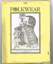 Vintage Pattern Victorian Christening Gown Toddler Dress Folkwear 228 Uncut