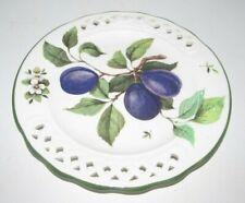 "Vintage Brunelli Purple Plums 8 1/4"" Round Plate - Italy"