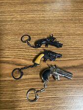 Lot of 3 Revolver, Gun Key Chains - Metal