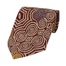 100 Silk Mens DESIGNER Tie Authentic Australian Aboriginal Art