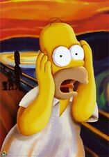 (LAMINATED) HOMER SIMPSON SCREAM GIANT POSTER (100x140cm) COMEDY CARTOON PICTURE
