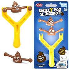 SMILEY POO SLINGSHOT BOYS FUN POOP SHOOTING EMOJ TOY CHRISTMAS STOCKING FILLERS