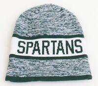 19fcb4fe39e56e Nike Reversible Michigan State Spartans Green Knit Beanie Men's One Size