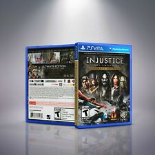 Injustice- Gods Among Us - PlayStation Vita Cover and Case. NO GAME!!