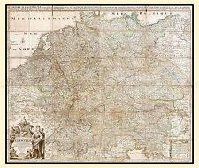 MAP ANTIQUE 1730 COVEN MORTIER GERMAN EMPIRE LARGE REPLICA POSTER PRINT PAM0193
