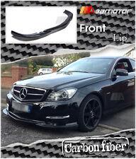 Carbon Fibre Front Lip for 11-13 Mercedes W204 C350 Facelift AMG Sport Bumper
