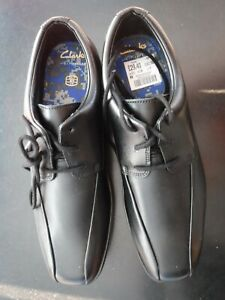 Brand New with Tags No Box CLARKS kids unisex black school shoes size UK 3.5