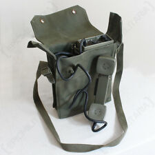 ORIGINAL NORWEGIAN TP-6N Field TELEPHONE - Olive Green Canvas Bag Strap - Issued