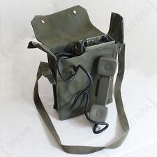 ORIGINAL NORWEGIAN TP-6N Field TELEPHONE - Olive Green Canvas Bag Strap - Issued
