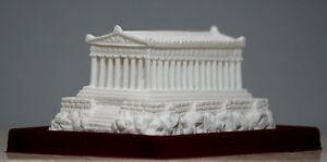 Parthenon Temple of Greek Goddess Athena Handmade Statue Sculpture 2.17 in