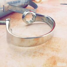 Spanner Bangle Bracelet Mens FREE personalisation Jewellery UK MADE Gift.