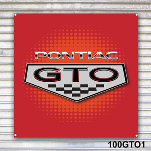 Pontiac GTO Banner Sign Garage