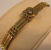 Jugendstil Armband Schmuck Brillant Gliederarmband Gold 585 punziert um 1900