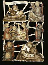 German Embossed Scrap Die Cut - Children Hummel Figurine Designs  EF7505