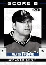 2011-12 Score B #2 Martin Brodeur