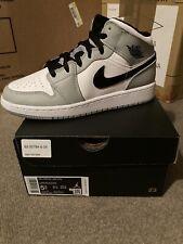 Nike Air Jordan 1 Mid GS Light Smoke Grey Black White 554725-092 SZ 5.5Y IN HAND