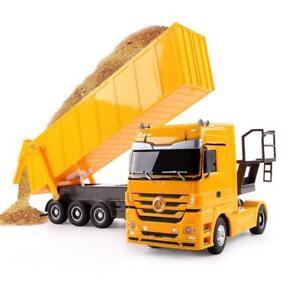 RC Truck Electronic Hobby Toy Dumper 10 Wheel Tilting Cart Radio Control Vehicle