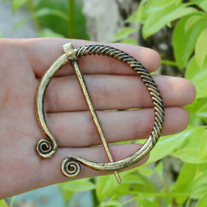 Medieval Retro Brooch Belt Buckles Clasp Cloak Silver Golden Pin Viking Jewelry