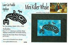 Mini Killer Whale Laser Cut Fusible Appliqué Quilting Appliqué Only, Lisa Moore
