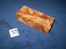 Rüster Maser Ulmenmaser Messergriff mit Wurmlöcher  120 x 50 x 32 mm     Nr: 929