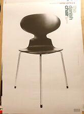 The Danish Chair DANISH FURNITURE DESIGN ART EXHIBITION POSTER #2 Arne Jacobsen