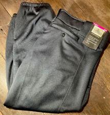 *NEW* Mizuno Women's Black Softball Pants Size LargeElastic Bottom Polyester