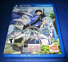 Sword Art Online: Lost Song Sony PlayStation Vita *Factory Sealed! *Free Ship!