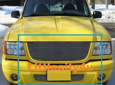 For 01 02 03 Ford Ranger Edge Billet Grille Grill COMBO 1pc upper + 1pc bumper
