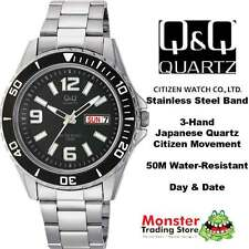 AUSSIE SELLER GENTS DIVERS STYLE WATCH DAY&DATE CITIZEN MADE A172-205 50 METRES