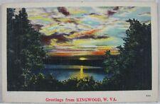 1920s Vintage Postcard Greetings From Kingwood, WV